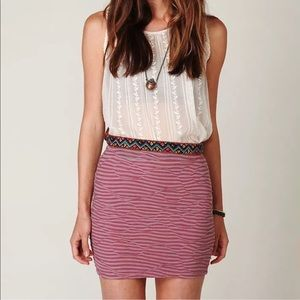Free People | Mini Skirt Stretch Jersey Pull On M
